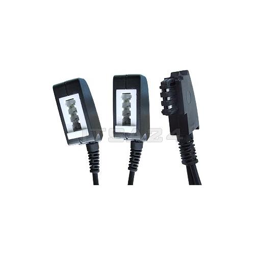 0 2 m tae y telefon verteiler kabel 1x st 2x bu ebay. Black Bedroom Furniture Sets. Home Design Ideas